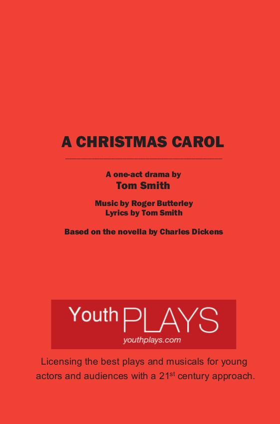 Act Christmas Carol.A Christmas Carol One Act Version By Roger Butterley And
